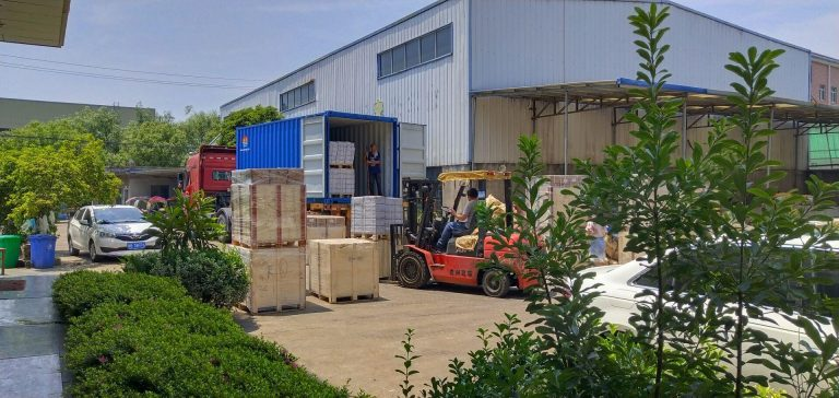 Container shipment in progress.